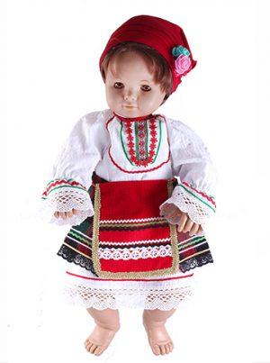Северняшка детска народна носия за момиче от четири части