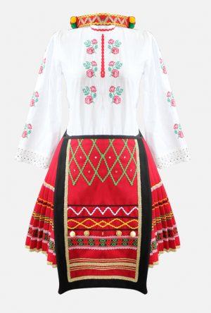 Северняшка детска народна носия за момиче с бродерии и ширити
