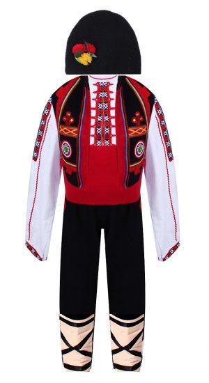 Северняшка детска народна носия за момче с бродерии и гайтани от шест части