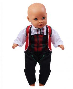 Северняшка народна носия за момче от четири части с червен елек