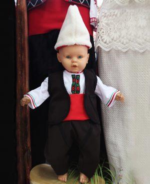 Детска/Бебешка родопска народна носия за момче от четири части