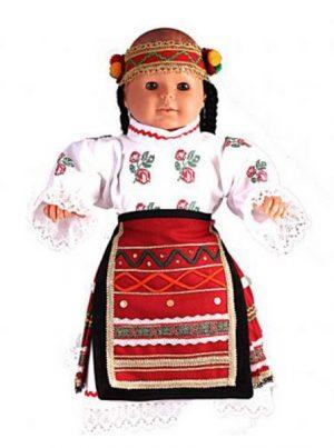 Северняшка бебешка народна носия за момиче от четири части
