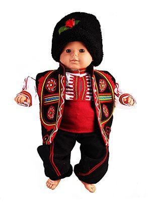 Северняшка бебешка народна носия за момче от шест части