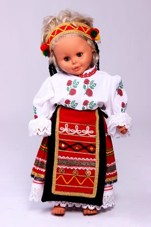 Северняшка бебешка народна носия за момиче с нежна бродерия