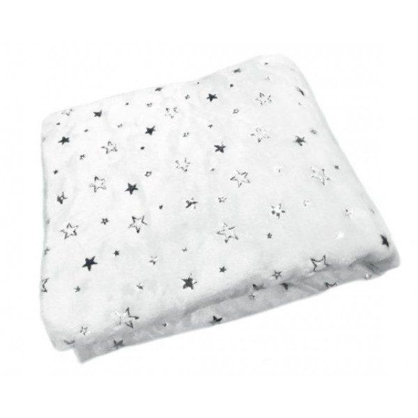 Бебешкото одеяло със звездички. Одеялцето може да се ползва както вкъщи, така и по време на разходка.
