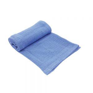 Kikka Boo Бебешко памучно одеяло СИНЬО