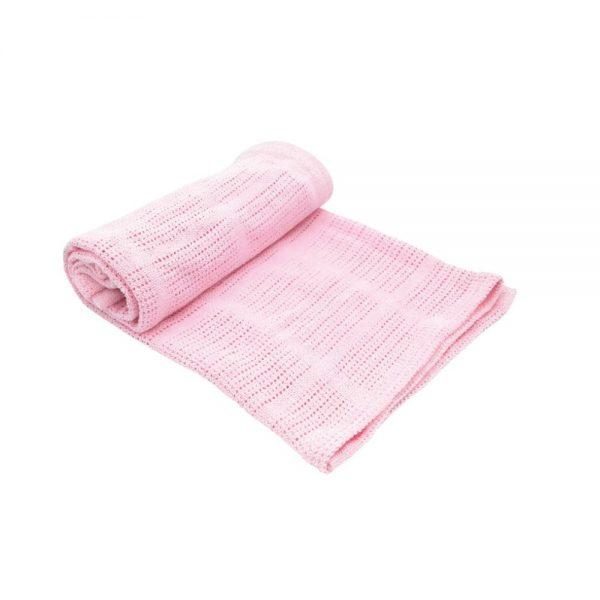 Kikka Boo Бебешко памучно одеяло РОЗОВО