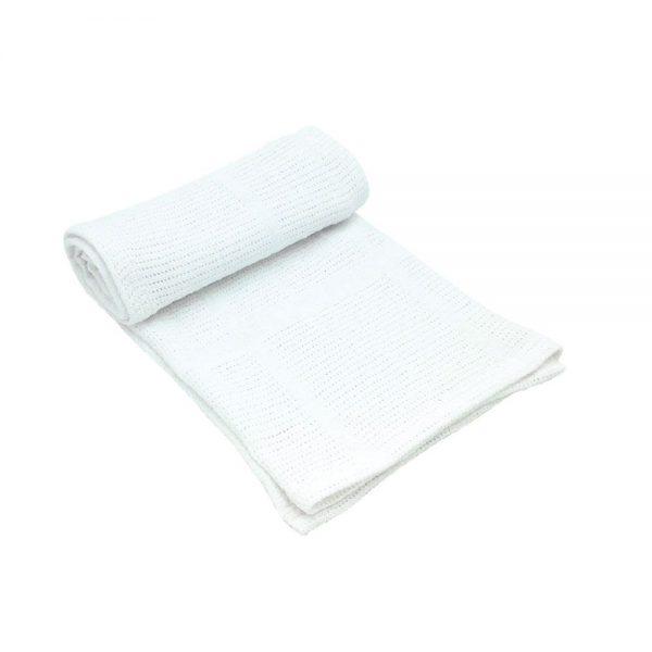 Бебешкото плетено памучно одеяло. Одеялцето може да се ползва както вкъщи, така и по време на разходка.