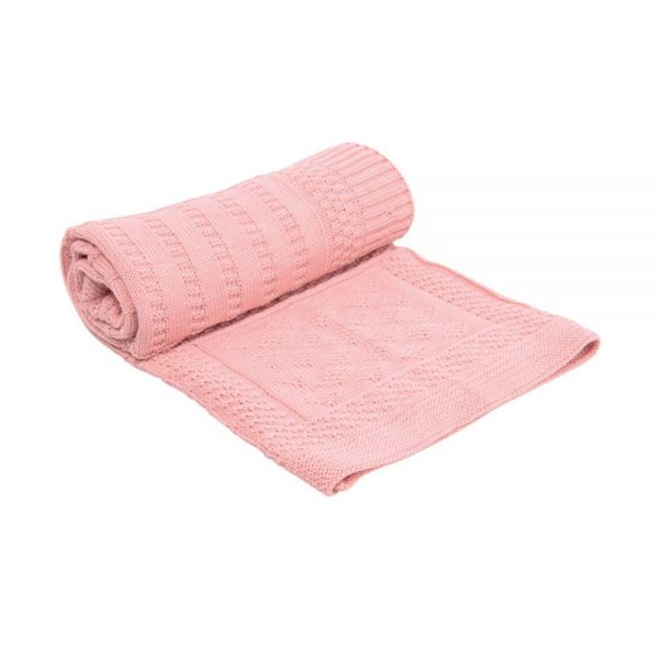 Kikka Boo Бебешко плетено одеяло GEOMETRY РОЗОВО