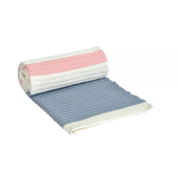 Kikka Boo Бебешко плетено одеяло STRIPES