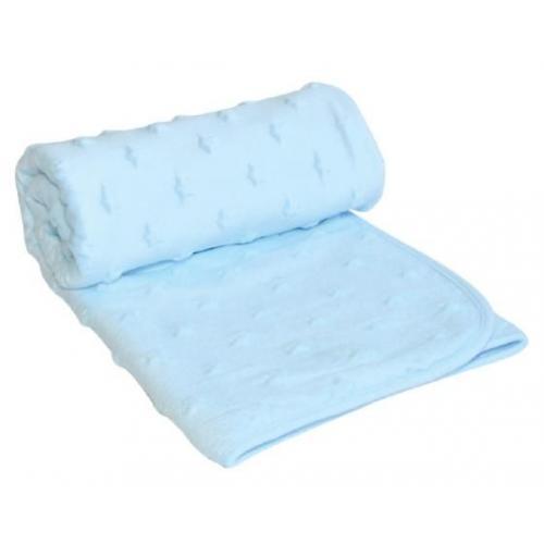 Поларено меко и топло одеяло с 3D елементи – сърца, звезди, точки. Предлага се в три цвята. Размер 75*100 см, състав 100% полиестер. Одеялото е един практичен и забавен подарък.
