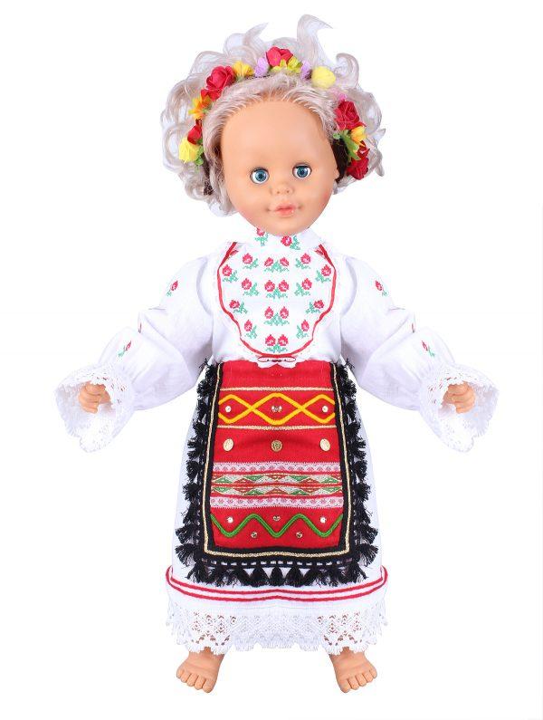 Бебешка северняшка народна носия за момиче с риза и престилка