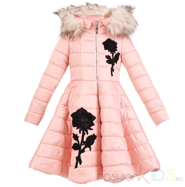 c72cc0e78bc Детско пролетно яке в розов цвят с качулка и спортен цип, набор в долната  част