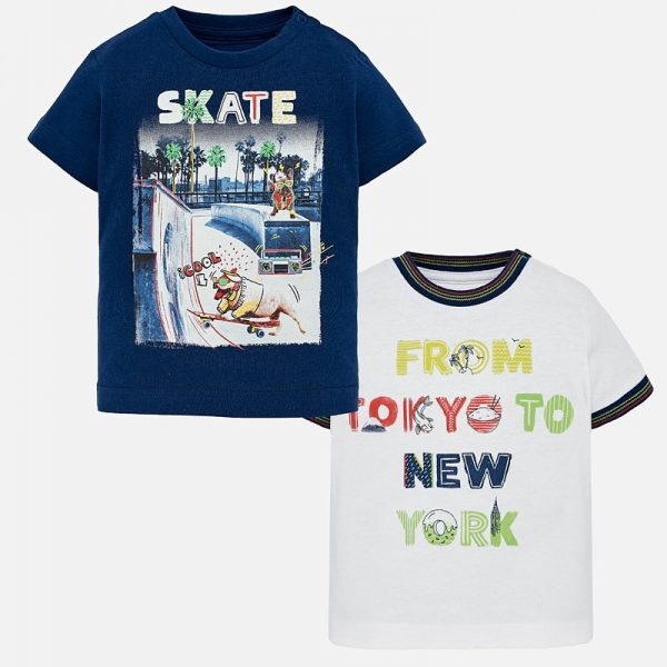 Бебешка тениска за момче с щампа от колекция Пролет-Лято 2019 на MAYORAL
