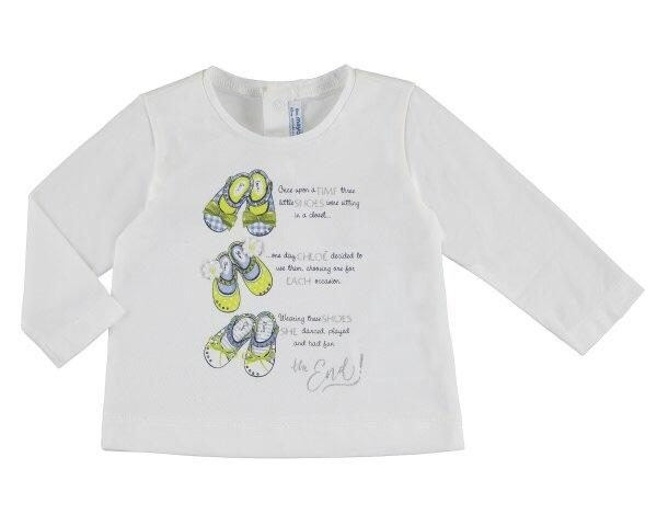 Бебешка блуза за момиче с пантофки от колекция Пролет- Лято 2019 на MAYORAL