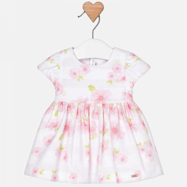 Официална бебешка рокля на цветя от колекция Пролет- Лято 2019 на MAYORAL.