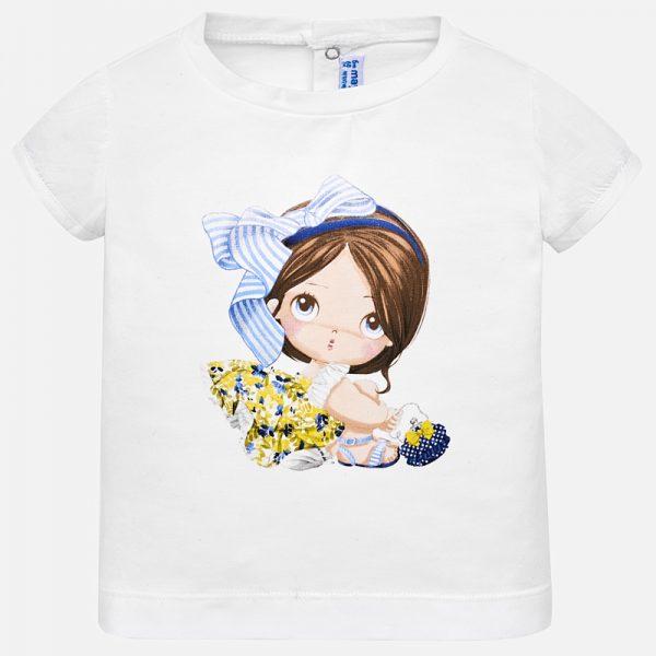 Бебешка тениска за момичеoт колекция Пролет-Лято 2019 на MAYORAL