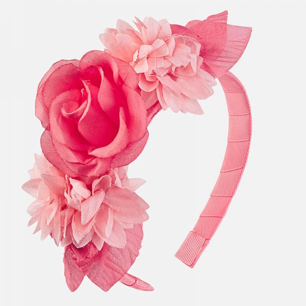 Детска диадема с цветя в розово oт Колекция Пролет-Лято 2019 на MAYORAL