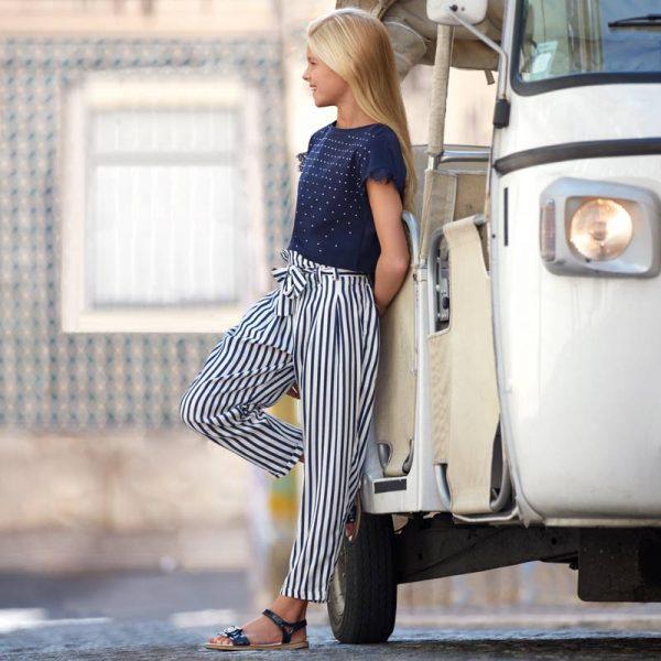 Детски панталон за момиче на райета oт колекция Пролет-Лято 2019 на MAYORAL