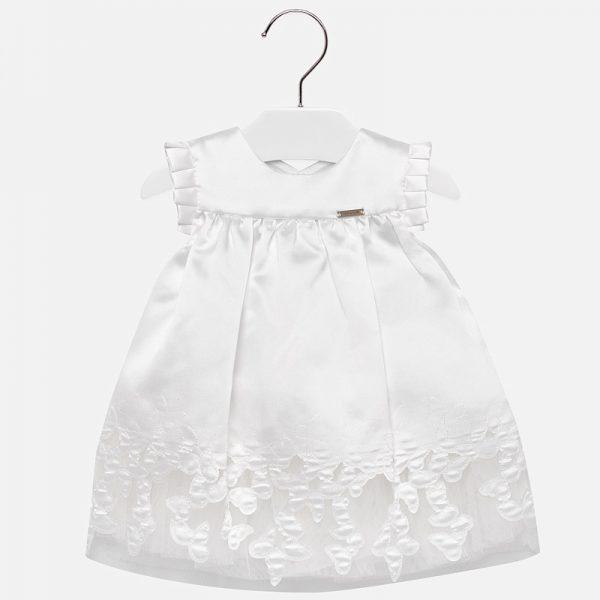 Официална бебешка рокля в бяло loт колекция Пролет-Лято 2019 на Mayoral