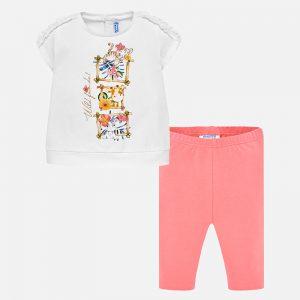 Бебешки комплект от две части за момиче от колекция Пролет- Лято 2019 на MAYORAL.