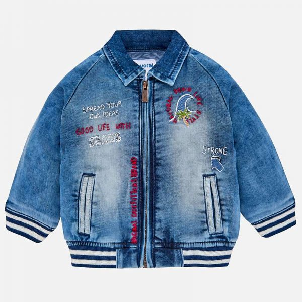 Бебешко дънково яке за момче от колекция Пролет- Лято 2019 на Mayoral