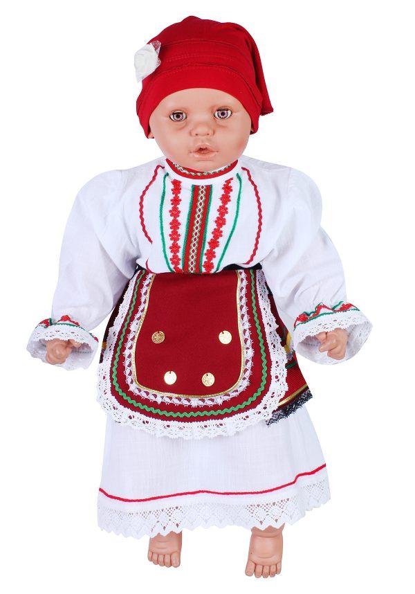 Бебешка северняшка народна носия за момиче от три части.