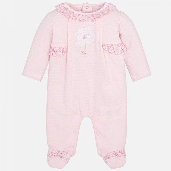 Бебешки гащеризон за момиче от колекция Пролет- Лято 2019 на MAYORAL в розово