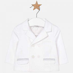 Бебешко трикотажно сако за момче от колекция Пролет- Лято 2019 на MAYORAL в бяло