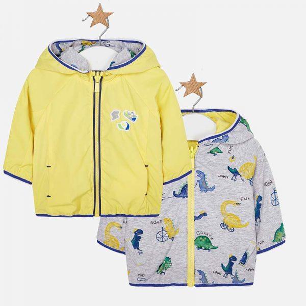 Бебешко яке с две лица за момче от колекция Пролет- Лято 2019 на MAYORAL в жълто.