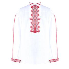 Северняшка мъжка народна риза от кенар със ширити.