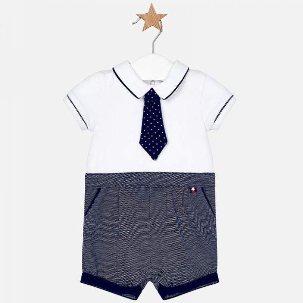 Бебешки гащеризон с вратовръзка за момче от колекция Пролет- Лято 2019 на MAYORAL