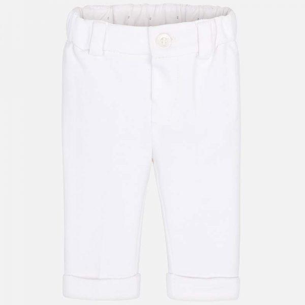 Бебешки трикотажен панталон за момче от колекция Пролет- Лято 2019 на MAYORAL в бяло.