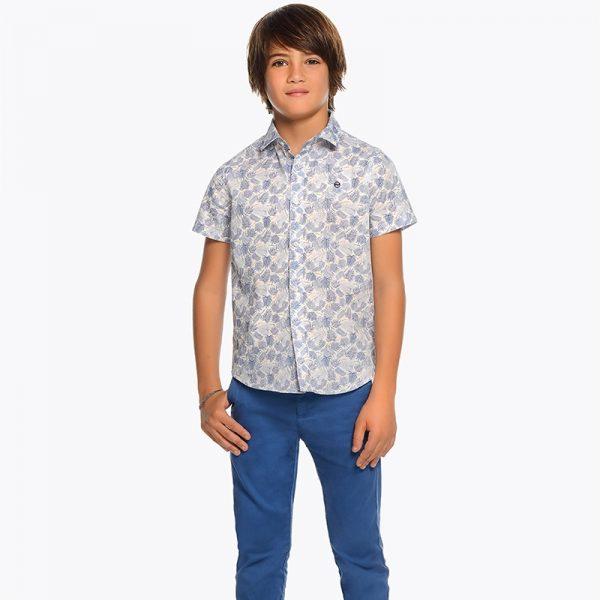 Юношески спортно- елегантен панталон за момче в синьо от колекция Пролет- Лято 2019 на MAYORAL