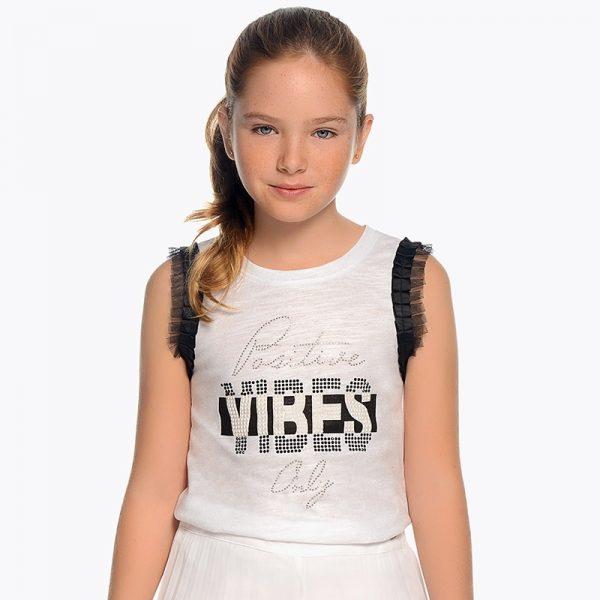 Детски потник за момиче в бяло от колекция Пролет-Лято 2019 на MAYORAL