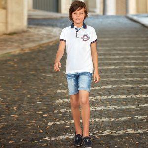 Юношески дънкови бермуди за момче от колекция Пролет- Лято 2019 на MAYORAL