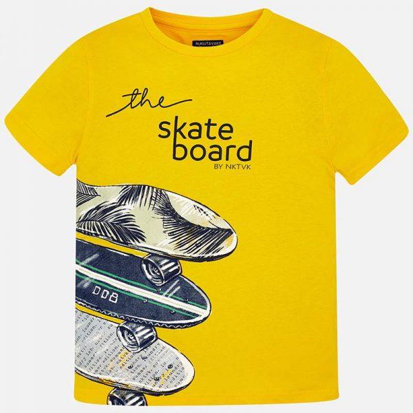 Юношеска тениска за момче в жълто от колекция Пролет- Лято 2019 наMAYORAL