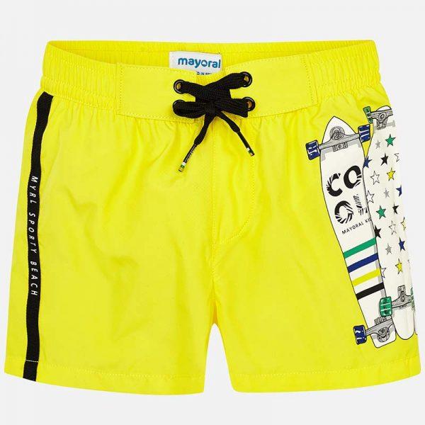 Детски бански, тип шорти за момче в жълто от колекция Пролет- Лято 2019 наMAYORAL,
