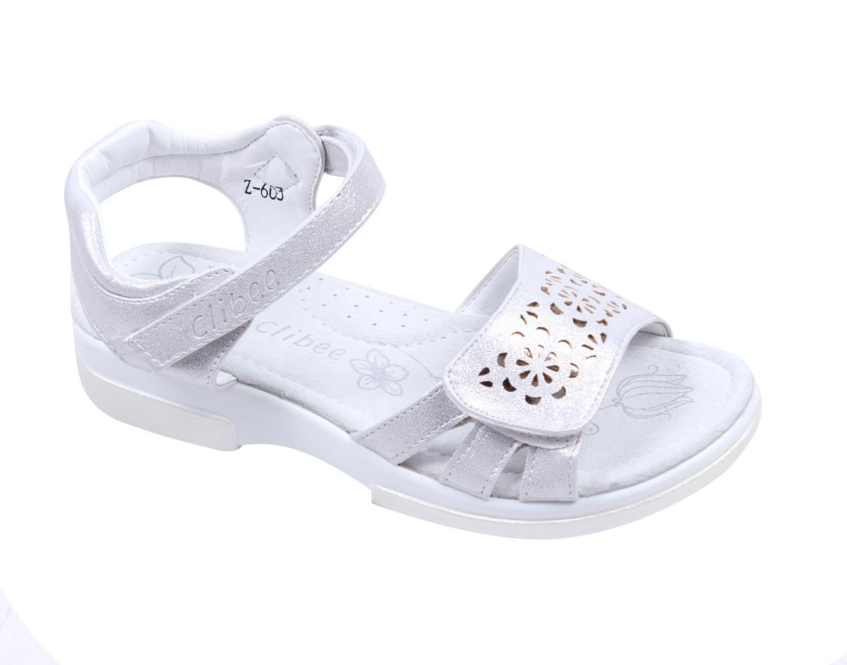 a0dc5395fc1 Детски сандали за момиче в бяло, с коригираща велкро лепка и анатомично  ходило с естествена