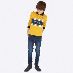 Еластични юношески дънки за момче в класически син цвят от колекция Есен- Зима 2019/ 2020 наMAYORAL с коригираща талия