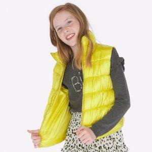 Детска грейка за момиче в жълто от колекция Есен-Зима `19 на MAYORAL