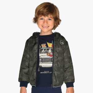 Детско двулицево камуфлажно яке за момче с качулка от колекция Есен- Зима 2019/2020 на MAYORAL.