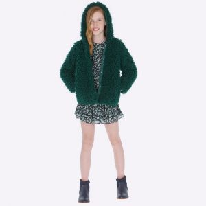 Детско пухкаво палто с качулка в маслено зелено от Колекция Есен- Зима 2019/ 2020 на MAYORAL