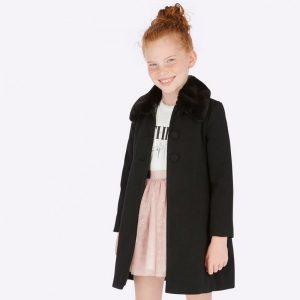 Детско елегантно палто в черно с еко яка от Колекция Есен- Зима 2019/2020 на MAYORAL