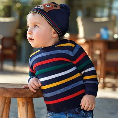 Бебешки пуловер за момче на цветни райета от Колекция Есен- Зима 2019/ 2020 на Mayoral
