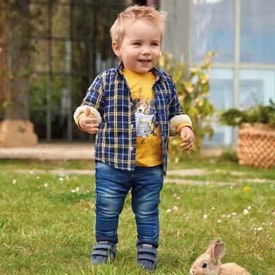 Бебешки дънки за момче с ластик на талията от Колекция Есен/ Зима 2019/2020 на MAYORAL