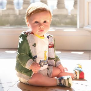 Бебешко двулицево яке за новородено момче с качулка от Колекция Пролет- Лято 2020 на MAYORAL