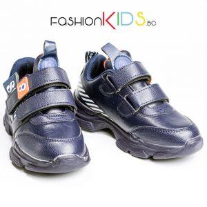 Универсални детски маратонки- сникърси в тъмносиньо с две коригиращи велкро- лепки и анатомично ходило
