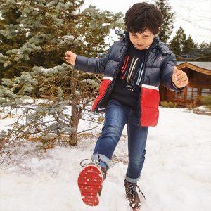 Двуцветно зимно яке MAYORAL за момче в синьо и червено