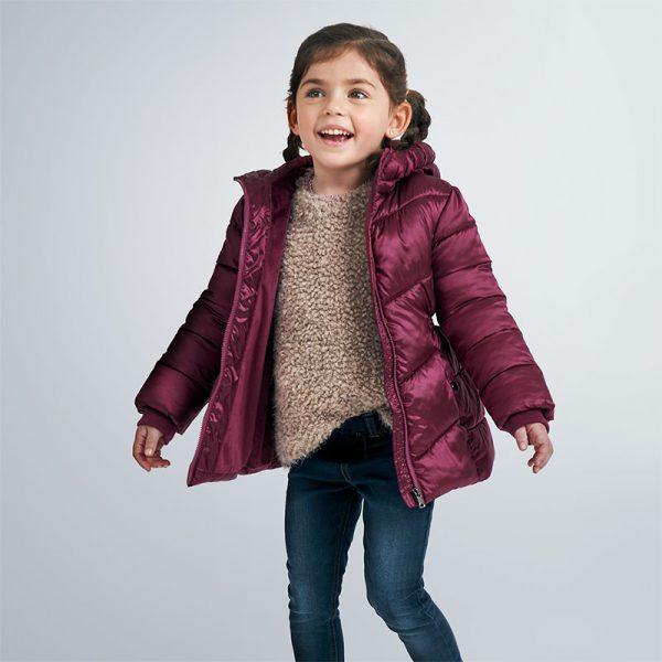 Детско зимно дебело яке за момиче MAYORAL в атрактивен лъскав десен